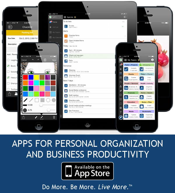 LightArrow Apps for personal organization and business productivity
