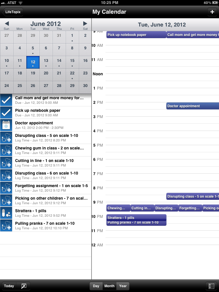 My Calendar Rollup