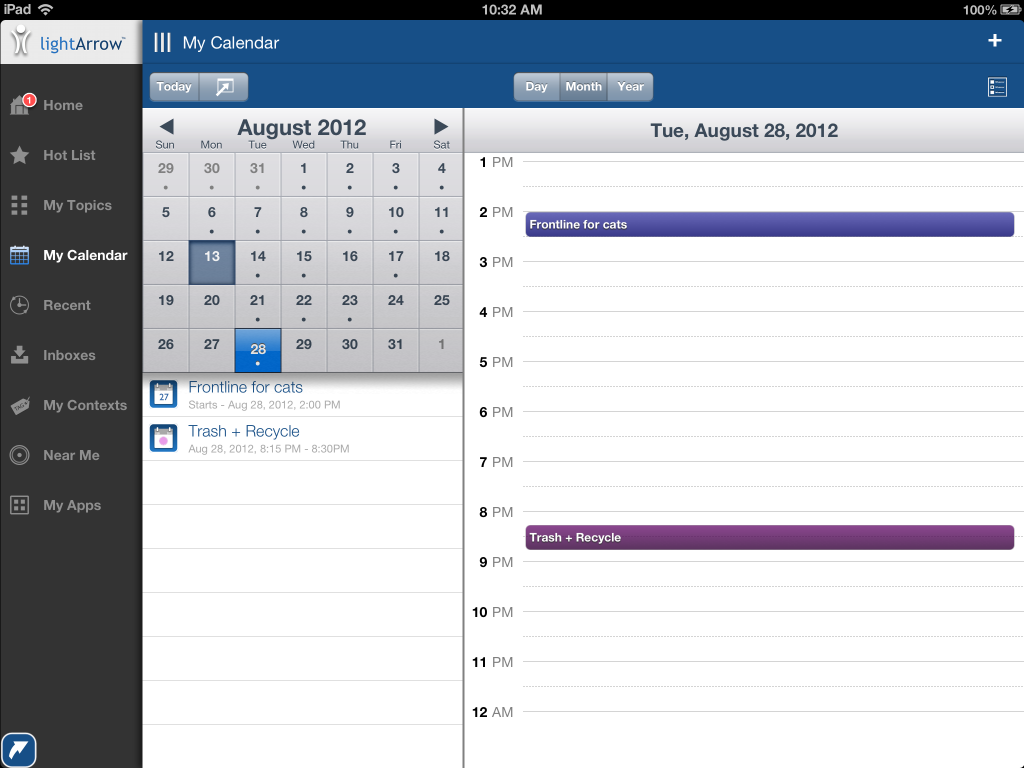 My Calendar on the iPad