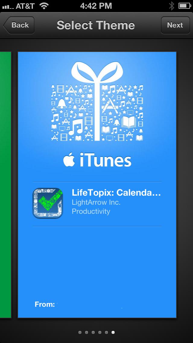 App Store Gift Themes LifeTopix