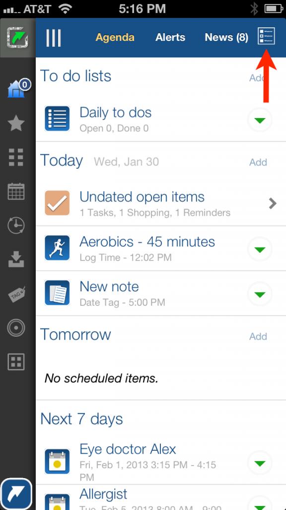 LifeTopix Calendar Filters