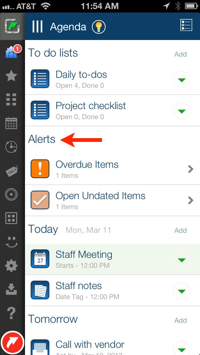 LifeTopix Agenda Alerts