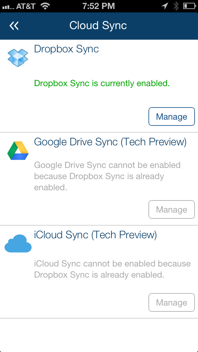 LifeTopix cloud sync