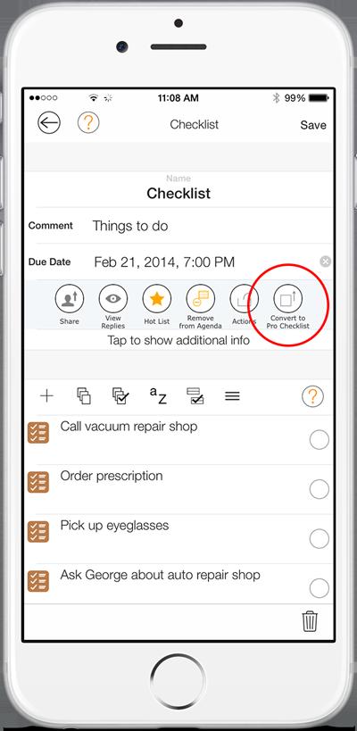 Pro Checklist Conversion