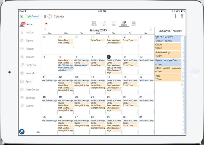 Complete Calendar and Organizer App