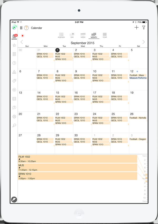 LifeTopix Student Schedule